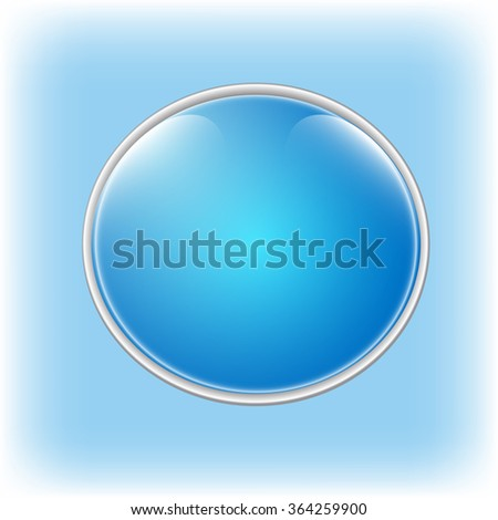 Blue speech bubble with space for your text - stock vector