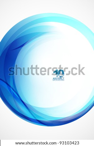 Blue sphere wave abstract background - stock vector