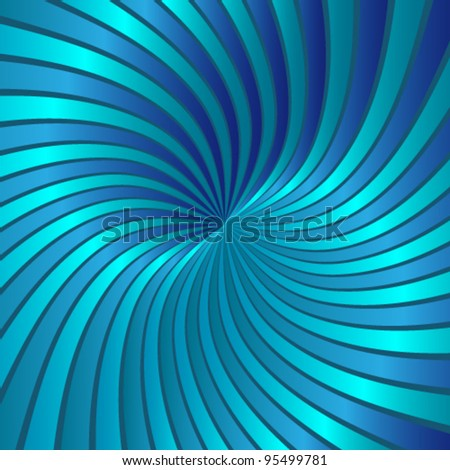 Blue spiral vortex - stock vector
