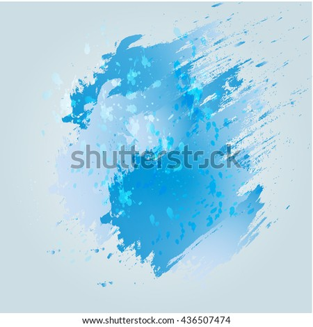 Blue spot watercolor Abstract background Vector illustration