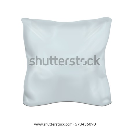 Blue square pillow. Vector mock up