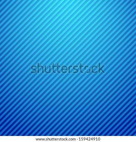 Blue striped background - stock vector