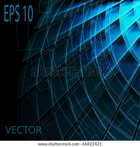 Blue stylish fantasy background - stock vector