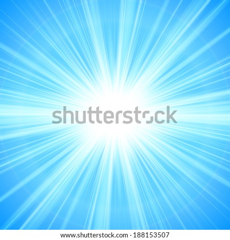 blue Sun theme abstract background - vector illustration.