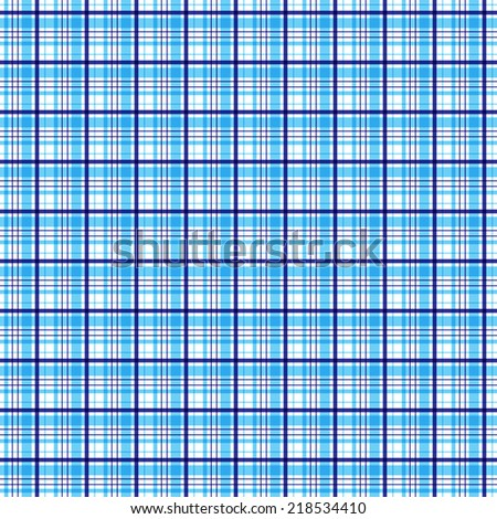 blue tartan plaid pattern Seamless vector.