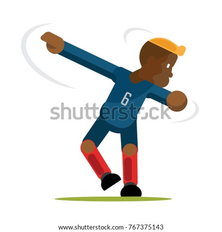 blue team soccer players celebrating dab stock vector royalty free