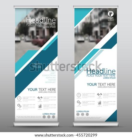 blue technology roll business banner design stock vector 455720299 shutterstock. Black Bedroom Furniture Sets. Home Design Ideas