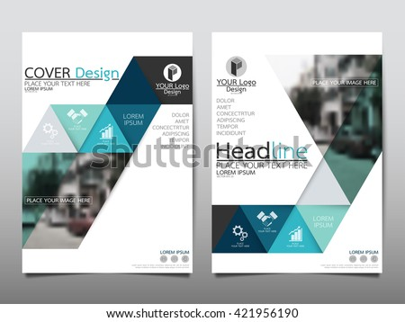 Green Triangle Annual Report Brochure Flyer Stock Vector