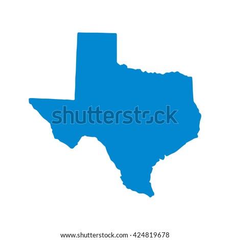 Blue Texas map. Similar Texas map. Texas map blank. Texas map vector. Texas map flat. Texas map clean. Texas map art. Texas map infographic. Texas map jpg. Texas map eps10. - stock vector