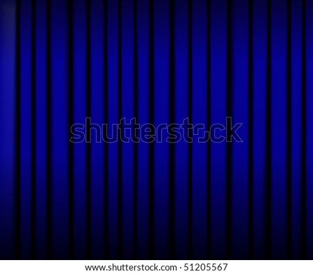Blue theater curtains