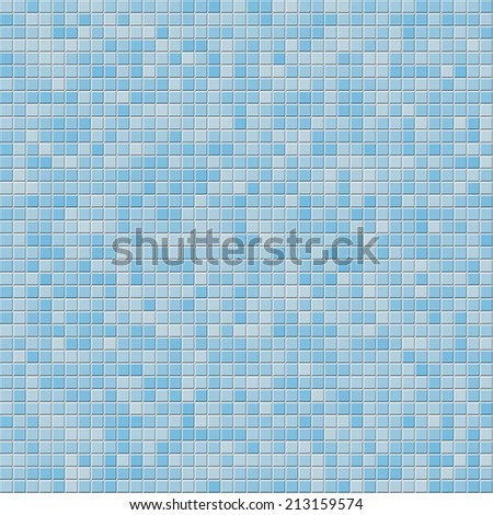 Blue tile wall. Vector illustration - stock vector