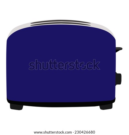 Blue toaster, toaster icon, toaster isolated, toaster vector - stock vector
