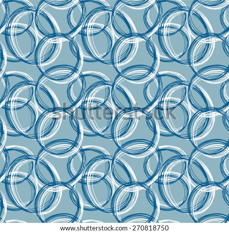 blue tone of Abstract pattern from circle hand drawn form  - stock vector