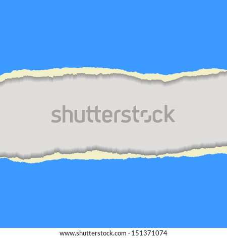 Blue torn paper. Background for your business presentation. - stock vector
