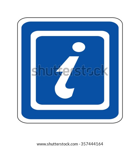 Blue Tourist Information Sign - stock vector