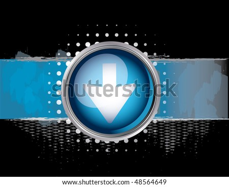Blue traffic sign - stock vector