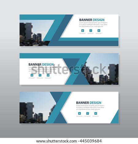 Blue triangle abstract corporate business banner template, horizontal advertising business banner layout template flat design set , clean abstract cover header background for website design - stock vector