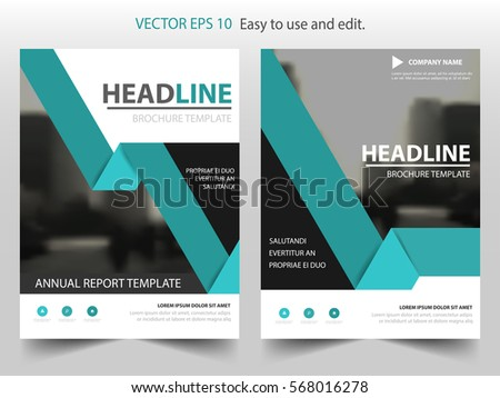 Business Brochure Design Annual Report Vector Stock Vector