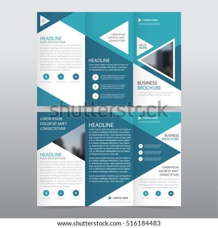 brochure template design for business presentation