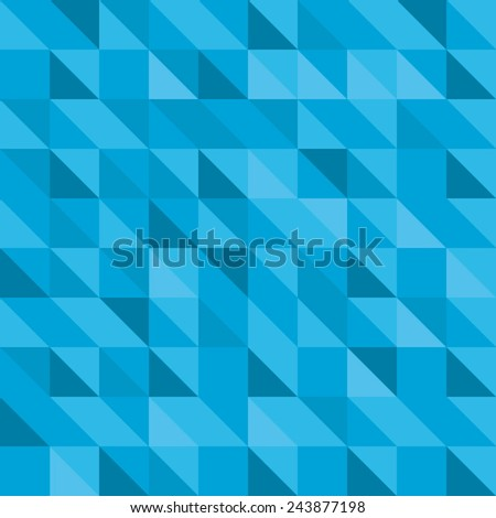 Blue triangle pattern - stock vector