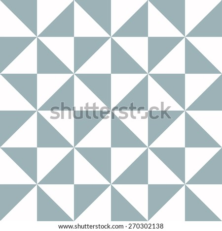 Blue Triangle Texture - seamless - stock vector