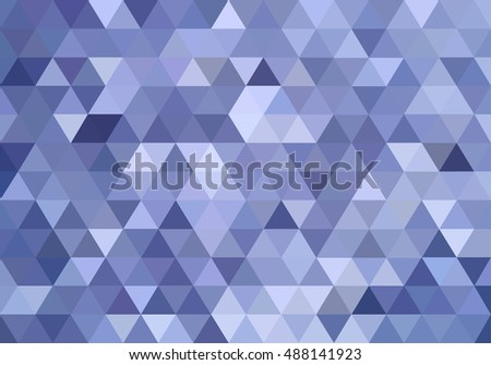 Blue triangles abstract background