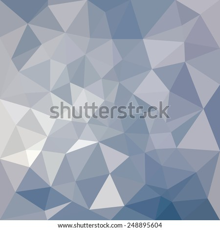 Blue triangular background - geometric abstract pattern - stock vector