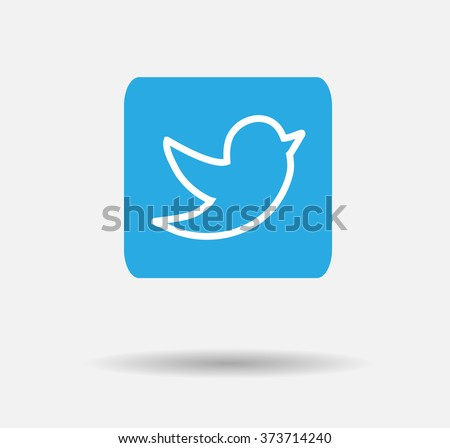 blue tweet bird vector logo jpg stock vector 373714240 shutterstock