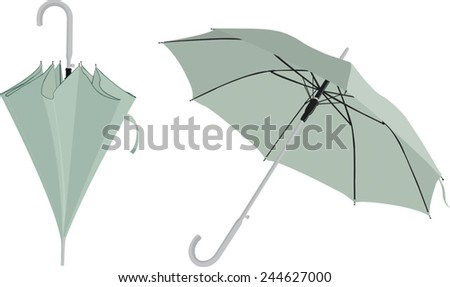 blue umbrella - stock vector