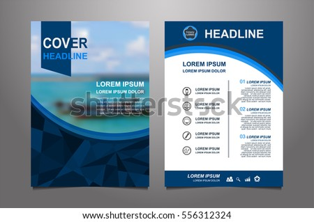 Blue Red Vector Annual Report Leaflet Vector 547281877 – Blue Flyer Template