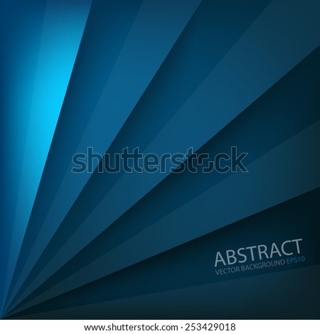 Blue vector background beam square overlap layer paper and space for text and message artwork website design - stock vector