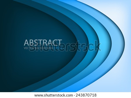 blue vector background curve line overlap layer gradient color with space for text and message modern artwork design  - stock vector