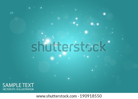 Blue vector background flare illustration - Vector shiny sparks blue background illustration - stock vector