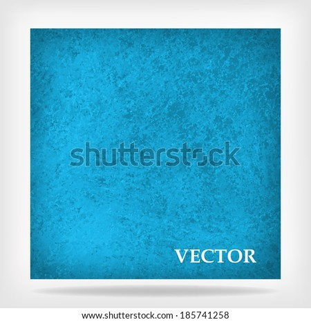 blue vector background, vintage blue background texture design with faint grunge texture and burnt edge vignette layout - stock vector