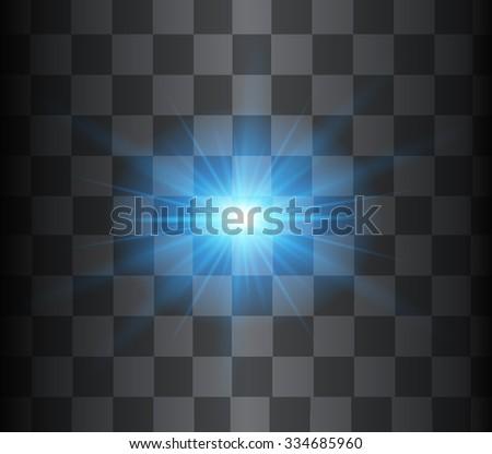 Blue vector glow light effect. - stock vector