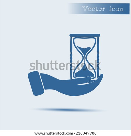 blue vector icon with shadow Flat design style