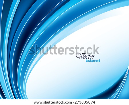 Blue Vector Modern Wavy Background. Eps10. - stock vector