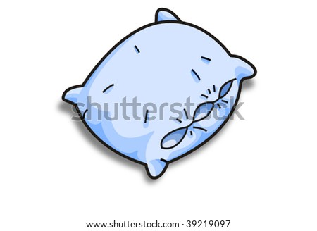 blue vector pillow
