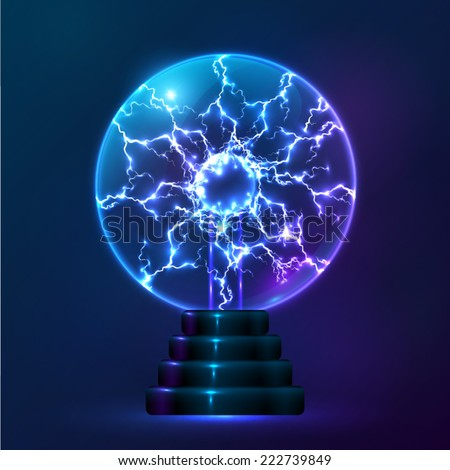 Blue Vector Plasma Ball Lamp Stock Vector 222739849 - Shutterstock