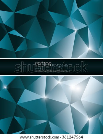 Blue Vector Polygonal Background. Abstract Illustration in eps10 format. - stock vector