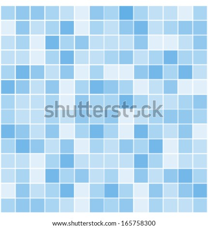 blue vector tiles mosaic background  - stock vector