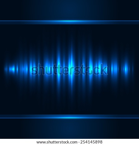 Blue vertical light vector background. - stock vector