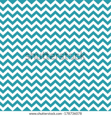 Blue Vintage Card, Zigzag Chevron Design - stock vector