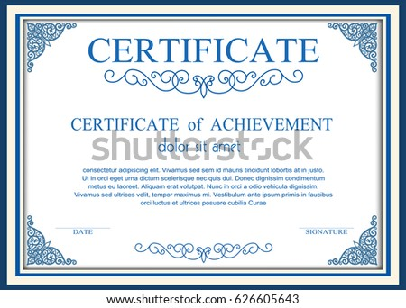 Certificate Frame Stock Images Royalty Free Images