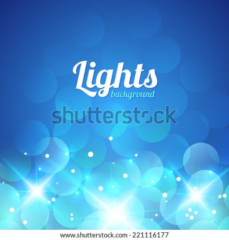 Blue Violet Bokeh Abstract Light Background. Vector Illustration
