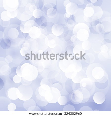 Blue Violet Soft  Bright Abstract Bokeh Background ,Soft Glow of the Sun , Defocused Lights,  Vector Illustration
