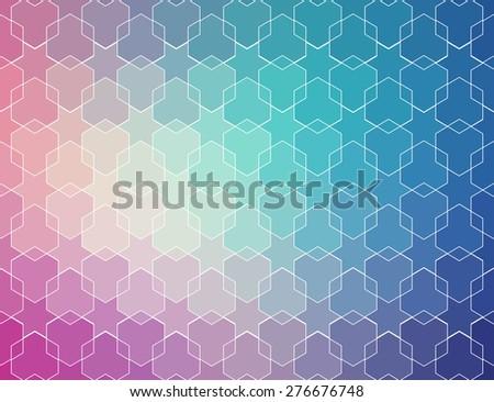 blue violet vintage pattern. Ethnic vector textured background for your design - stock vector