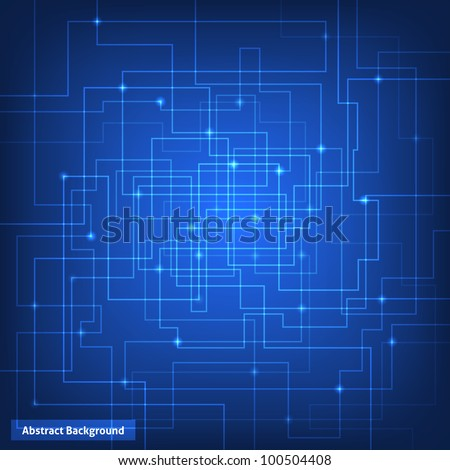 Blue virtual technology circuit background. This vector image is fully editable. - stock vector