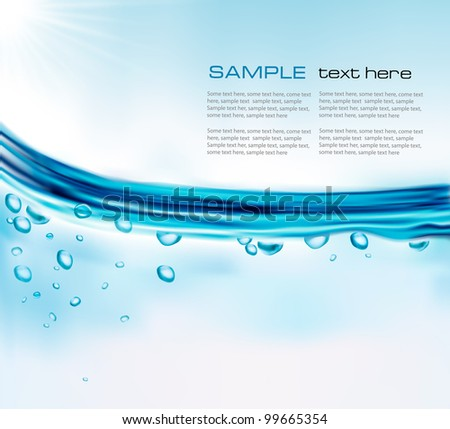 Blue water background vector illustration stock vector