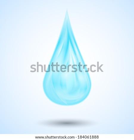 blue water drop - stock vector